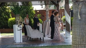 Ceremonia civil en Parque del Río, Torre del Mar
